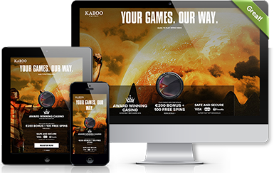 Screenshots of Kaboo Homepage